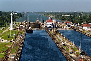 Ship canal - The Panama Canal.