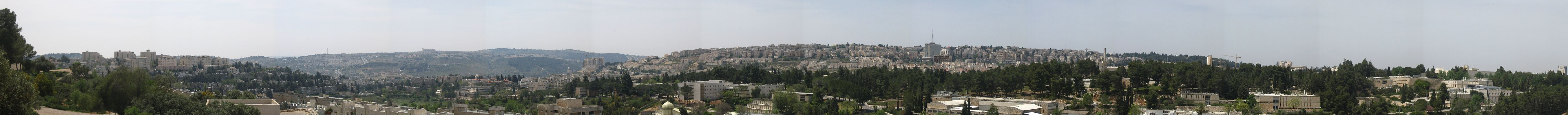 A Panorama of West Jerualem, as seen from the Israel Museum.