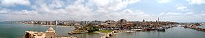 Panorama of Sidon from the castle