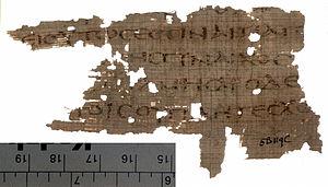 Matthew 19 - Image: Papyrus 71recto