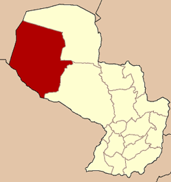 Location of Boquerón Department