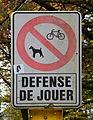 Parc municipal Pétange, Défense de jouer.jpg