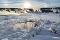 Parhelion & rime ice, Upper Geyser Basin (24957426762).jpg