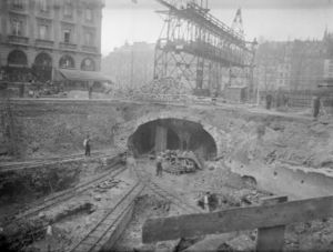 Paris Métro - During the initial construction of the Métro, the tunnels were excavated in open sites and then covered.