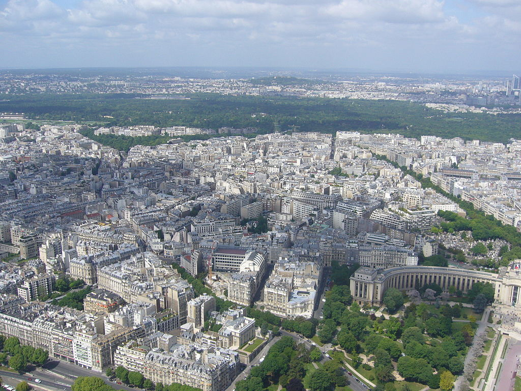 file paris view from the eiffel tower third floor bois de boulogne wikimedia commons. Black Bedroom Furniture Sets. Home Design Ideas