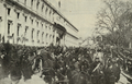 Partida do armão transportando a urna funerária de Teófilo Braga do Congresso da República para os Jerónimos - Ilustração Portugueza (09Fev1924).png