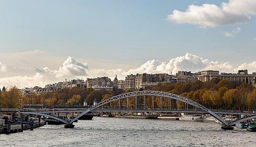 Passerelle Debilly, Paris, France.