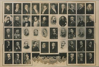 John Molson - Photos of the masters of St Paul's Lodge 374 in Montreal. Molson is third from the left on the first line.