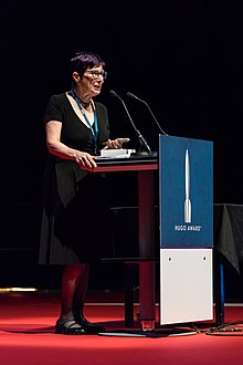 Pat Murphy, at the Hugo Awards Ceremony 2017 at Worldcon in Helsinki.jpg