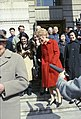 Pat Nixon leaves the Peking Hotel and is followed by Helen Thomas, other news reporters, and Chinese officials.jpg