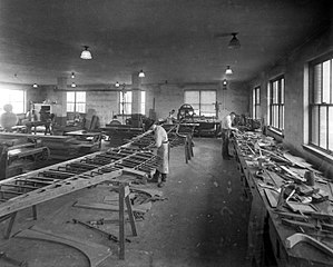 Patternmaker - The patternmakers' workshop at the Thomas-Morse Aircraft Corporation, 1922