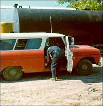 Leonard Peltier - FBI photograph of the vehicle allegedly followed by agents Coler and Williams