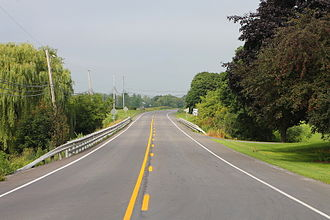 Pennsylvania Route 254 - Pennsylvania Route 254 west in Limestone Township, Montour County