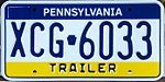 Pennsylvania Trailer License Plate XCG-6033.jpg