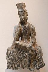 Bodhisattva assis