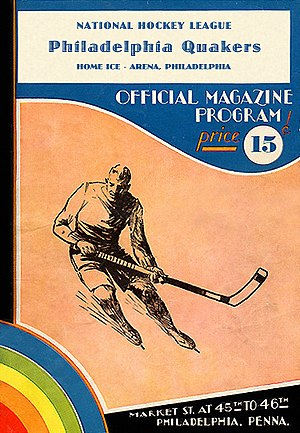 Philadelphia Quakers (NHL) - Phila. Quakers program