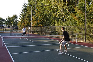 Pickleball Sport combining elements from tennis, badminton, and table tennis