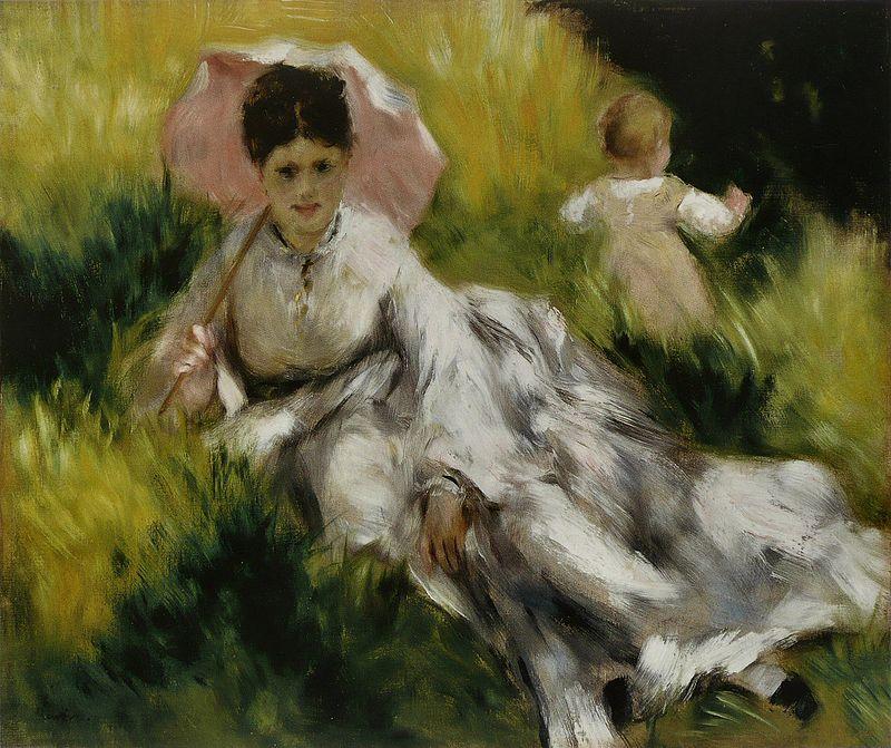 Pierre-Auguste Renoir - Femme à l'ombrelle et enfant.jpg
