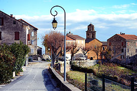 The entrance to the village of Pietraserena, from Piedicorte-di-Gaggio