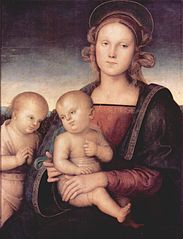Madonna with child and Saint John the Baptist