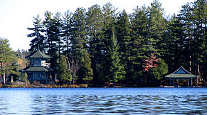 Great Camps - Pine Tree Point on Upper St. Regis Lake.