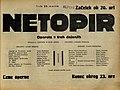 Plakat za predstavo Netopir v Narodnem gledališču v Mariboru 19. marca 1930.jpg
