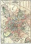 100px plan of moscow 1917