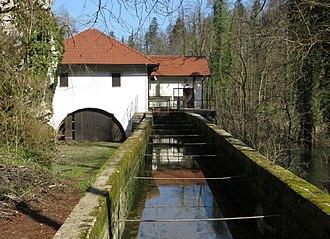 Planina, Postojna - Image: Planina Postojna Slovenia hydroelectric plant
