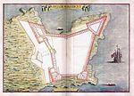 Planta da fortaleza da ilha de Moçambique, Leonardo de Ferrari, 1655.jpg