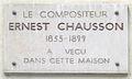 Plaque Ernest Chausson, 22 boulevard de Courcelles, Paris 17.jpg