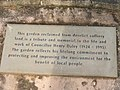 Plaque at the Councillor Henry Daley Memorial Garden at Walton Colliery Nature Reserve. - geograph.org.uk - 154930.jpg