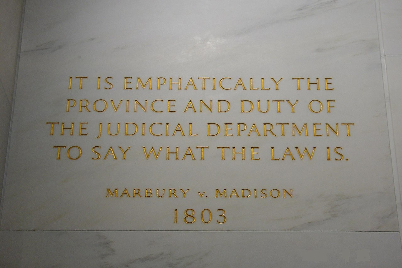 Fileplaque Of Marbury V Madison At Scotus Buildingg Wikimedia