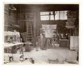 Plaster workshop - men working on models, including a Corinthian capital (NYPL b11524053-490413).tiff