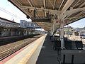 Platform of Miyajimaguchi Station.jpg