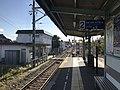 Platform of Nishitetsu-Shingu Station 7.jpg