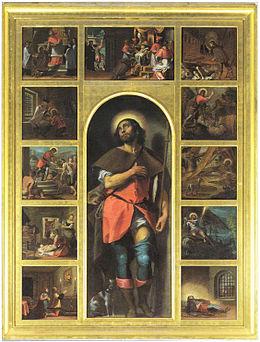 Antonio Gandino, Polittico di San Rocco, 1590 circa, collegiata dei Santi Nazaro e Celso, Brescia