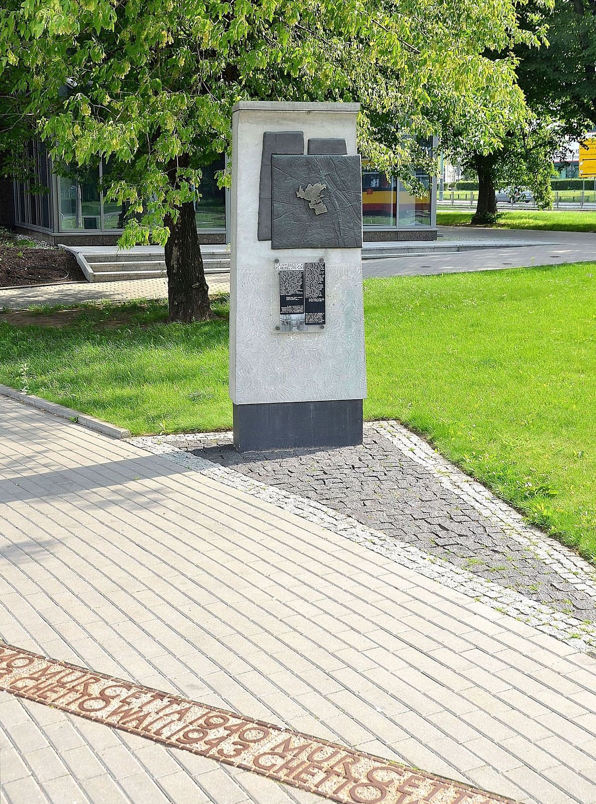 Warsaw Ghetto boundary markers - Wikipedia