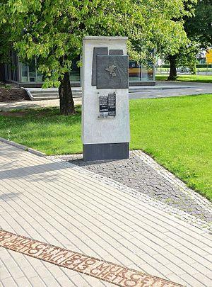 Warsaw Ghetto boundary markers - Ghetto boundary marker in Bonifraterska Street