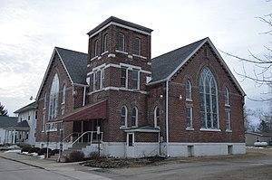 Poneto, Indiana - Methodist church on Walnut St.