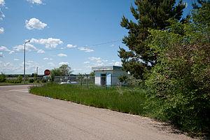Porcupine, North Dakota - Street in Porcupine