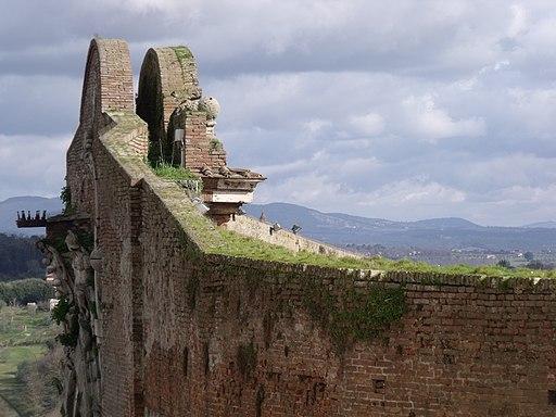 Siena, Porta Camollia, dettaglio