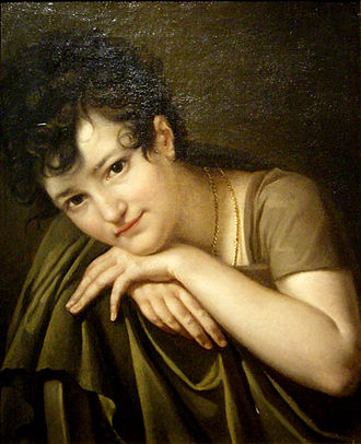 Thomas Henry (patron of the arts) - Portrait de jeune femme (Portrait of a young girl) by Thomas Henry, Musée Thomas-Henry