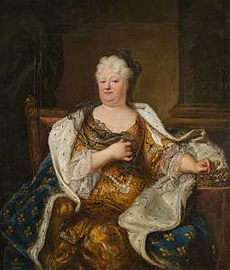Portrait of Elisabeth Charlotte of the Palatinate, Duchess of Orléans (Rigaud, 1713)