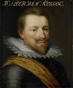 Portret van Willem Adriaen (?-1625), graaf van Hornes, heer van Kessel en Westwezel Rijksmuseum SK-A-561