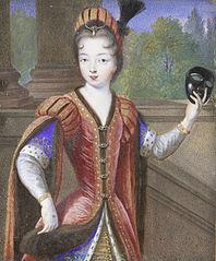 Portret van een jonge vrouw, mogelijk Marguerite van Valois (1553-1615), dochter van Hendrik II