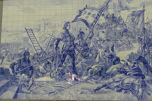 Prince Henry the Navigator during the Conquest of Ceuta Portugal-Porto-Train Station-P1180300 (25264859223).jpg