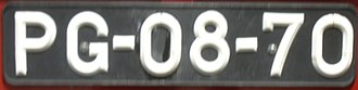Vehicle registration plates of Portugal - Type of licence plate used until 1992