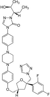 Struktur von Posaconazol