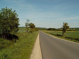 """An der Poststraße - """"Alte Poststraße"""", the old post road between the B 250 und Klosterhäseler"""