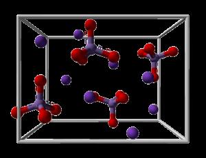 Potassium manganate - Image: Potassium manganate unit cell 3D balls
